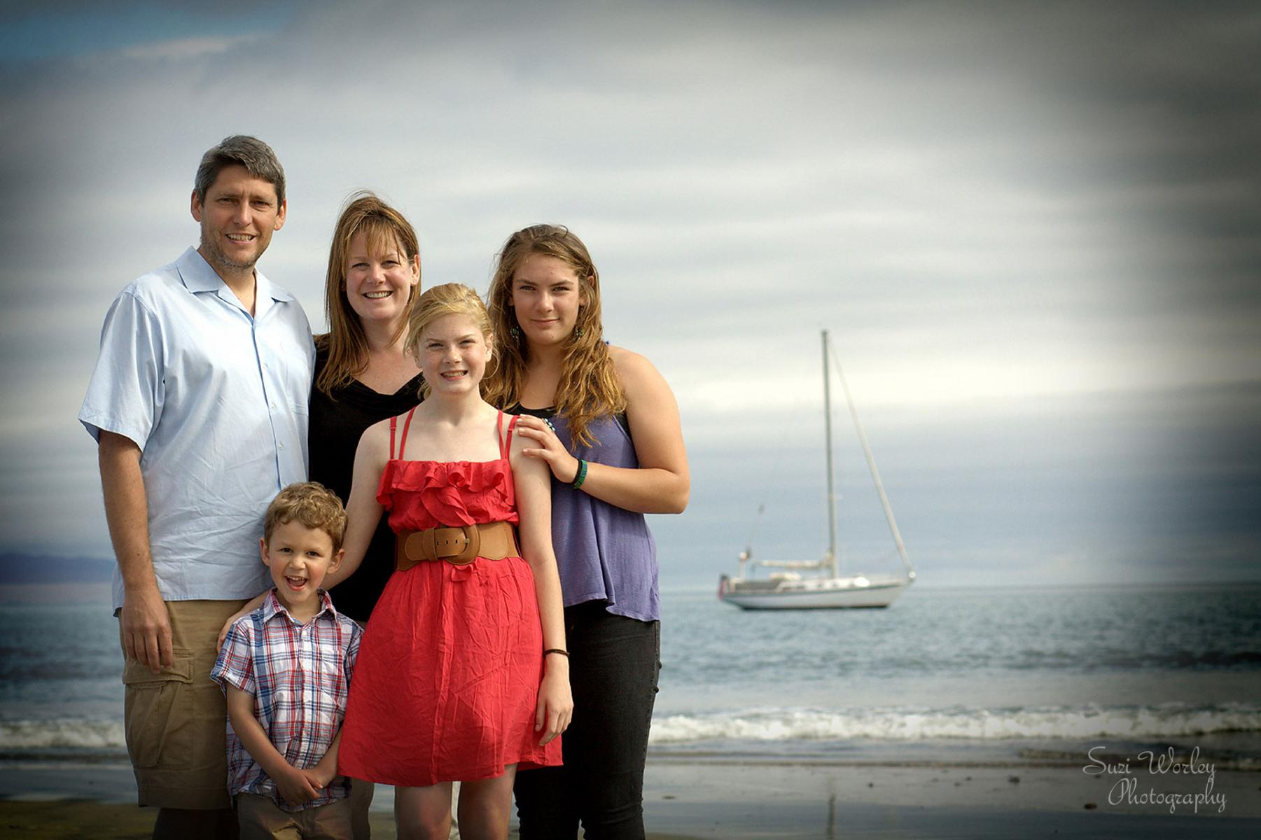 Fun family session at Pismo Beach. #family #portraits #beach #sailboats #SuziWorleyPhotography
