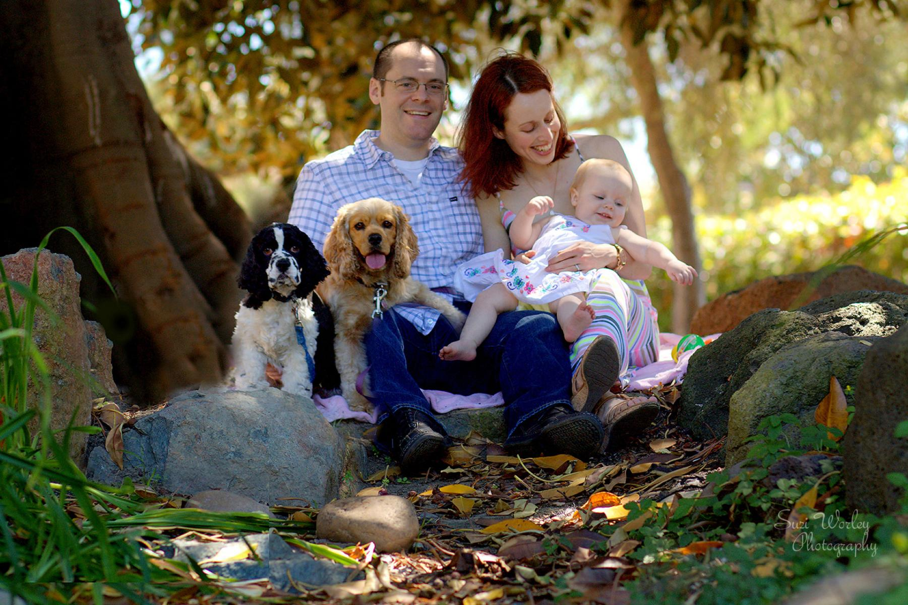 A young family with their pups.  #SuziWorleyPhotography #Portraits #family #dogs  #nature