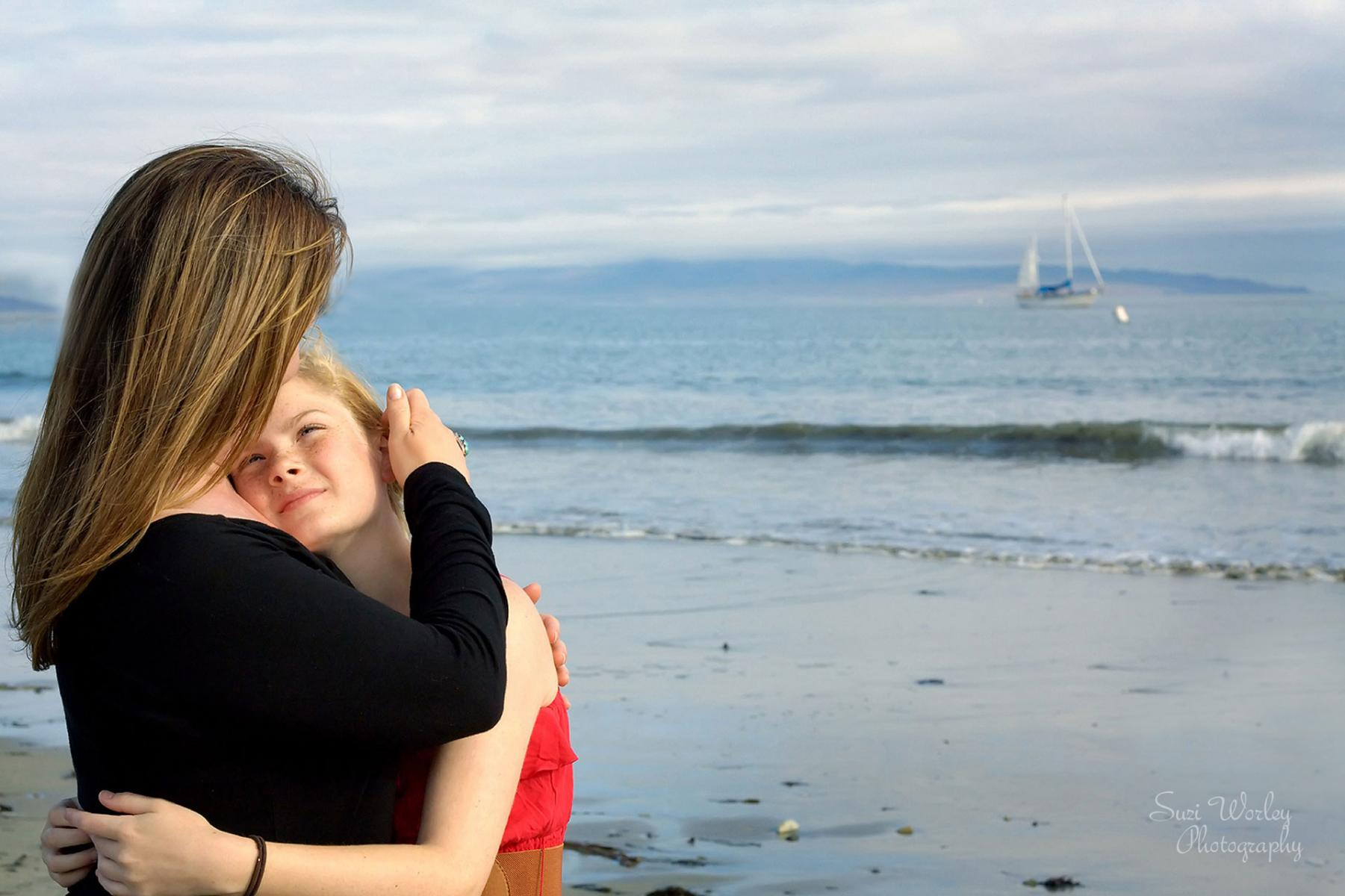 A quiet moment at the beach.  #SuziWorleyPhotography #Portraits #Mother #Daughter #Beach