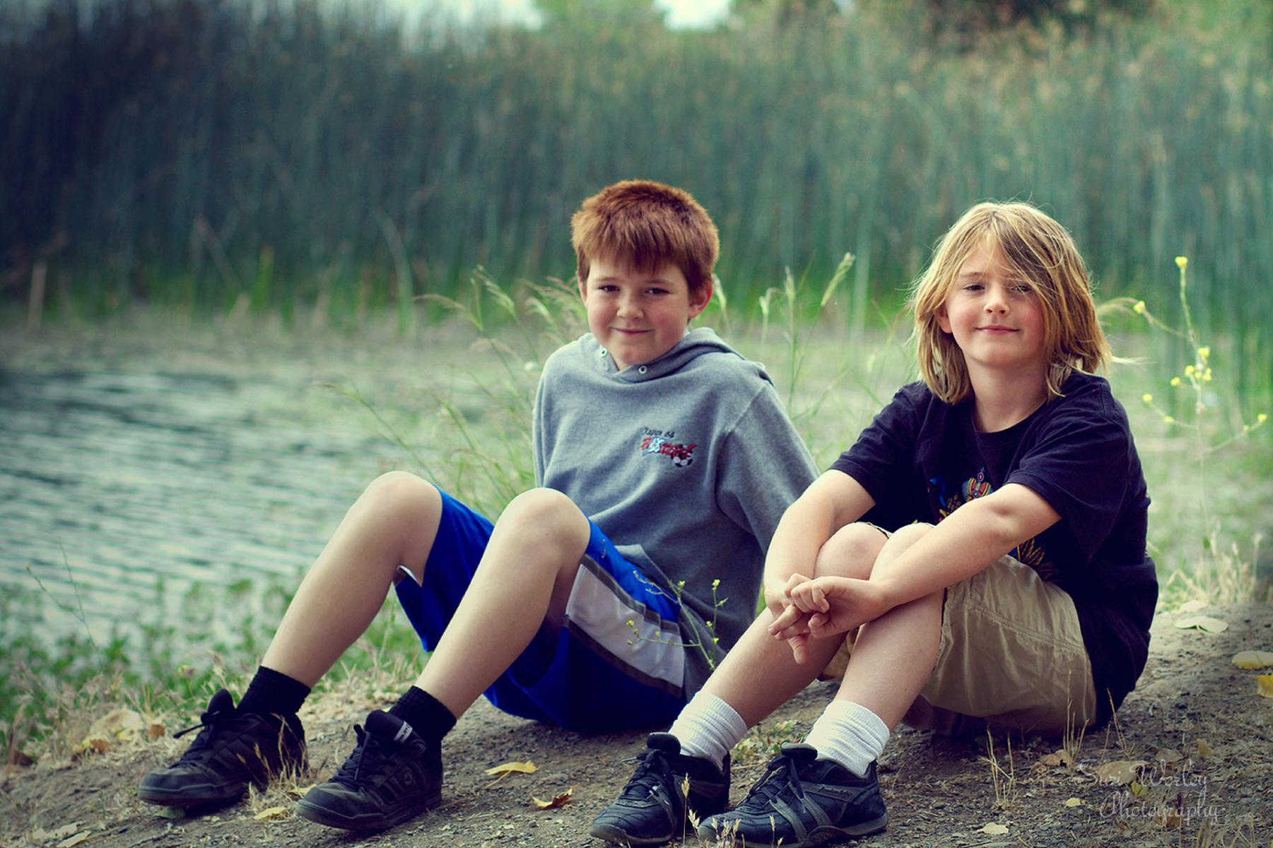 A day at the pond.  #SuziWorleyPhotography #FamilyPictures #Boys