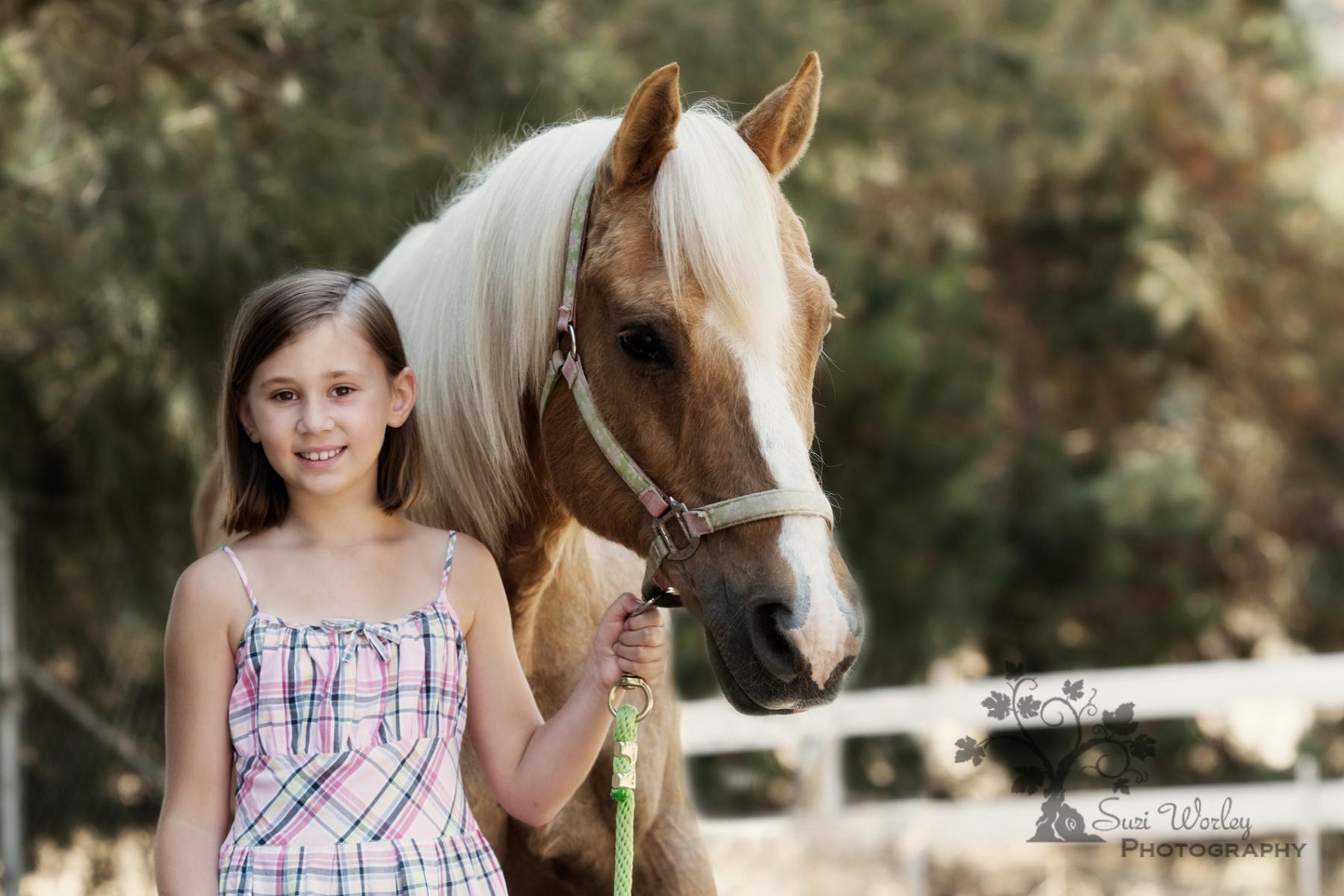 There's something about girls and horses. #Palomino #SuziWorleyPhotography #horses